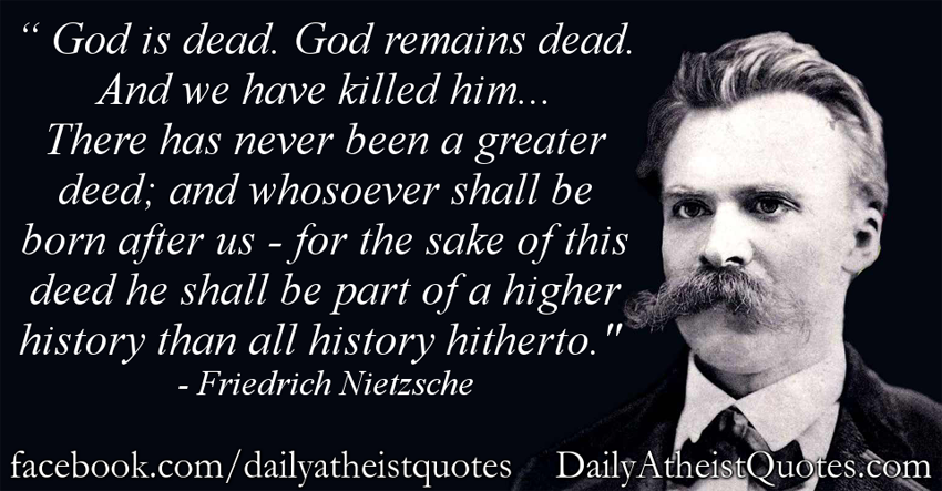 a literary analysis of the term god is dead by nietzsche A discussion on death of god nietzsche as philosopher (1965) v durr, et al, eds, nietzsche: literature and the very statement god is dead was.